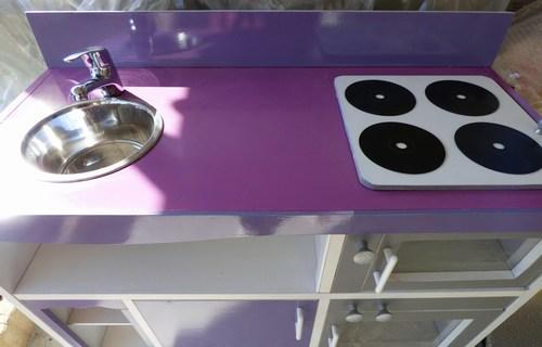 Mini cuisine violette 3 plan travail